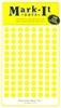 "600 yellow 1/4"" map stick-on map dots"