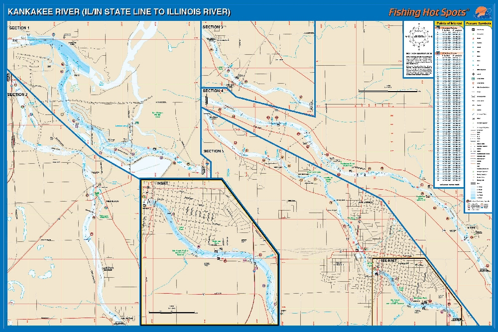 Kankakee river il in line to illinois river fishing map for Illinois river fishing