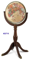 SHERBROOKEII 16 INCH GLOBE ANTIQ RAISED REPLOGLE