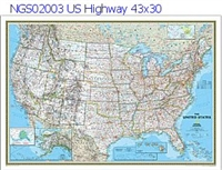 National Geographic U.S.Highway Political Map