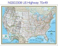 National Geographic U.S. Highway Political Map