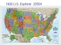National Geographic U.S. Explorer Map