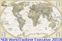 National Geographic World Explorer Executive Map
