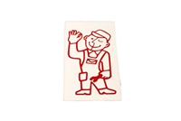 Derbi Mechanic Man Decal - Red