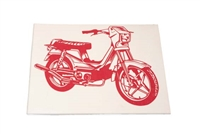 Derbi Variant Moped Decal - Red