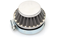 Dellorto SHA 60mm Shorty Air Filter - Chrome