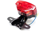 Universal Moped Rear Tail Light with License Bracket