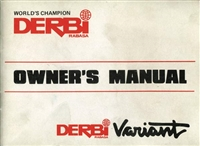 Free Derbi Variant Moped Owners Manual