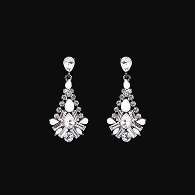 1/10 CT. T.W. Composite Diamond Oval Earrings