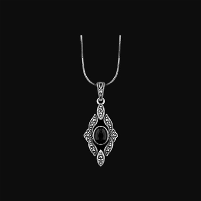 1/2 CT. T.W. Enhanced Black Diamond Solitaire Pendant and Earrings Set in Sterling Silver
