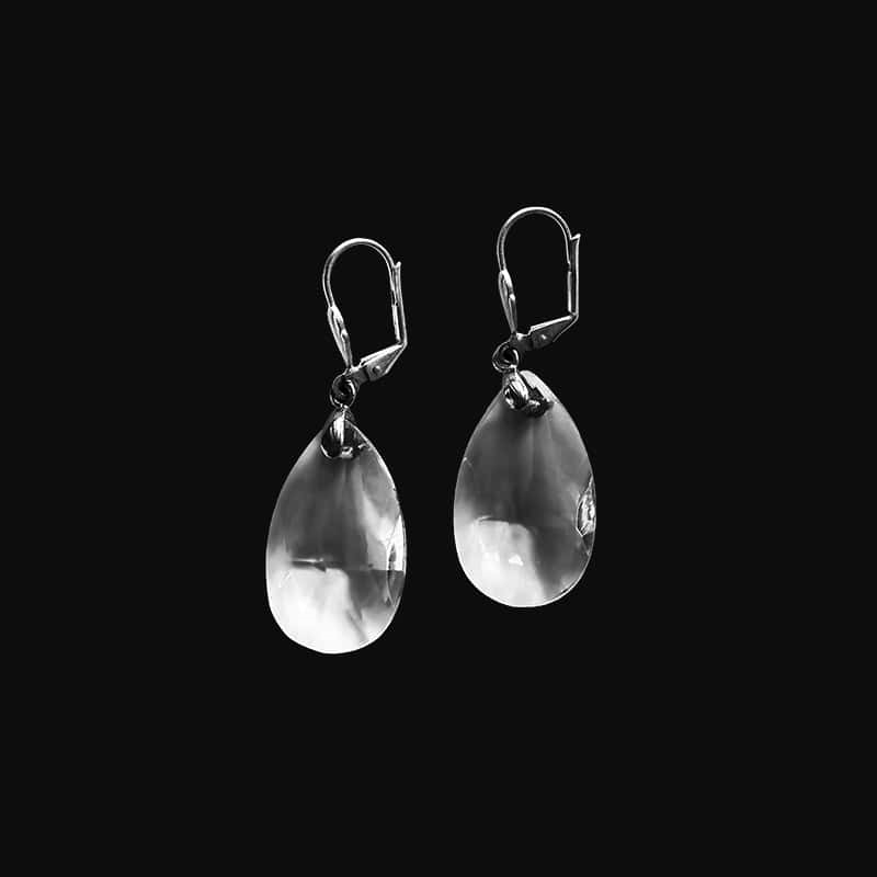 Crystal Drop Earrings in Sterling Silver