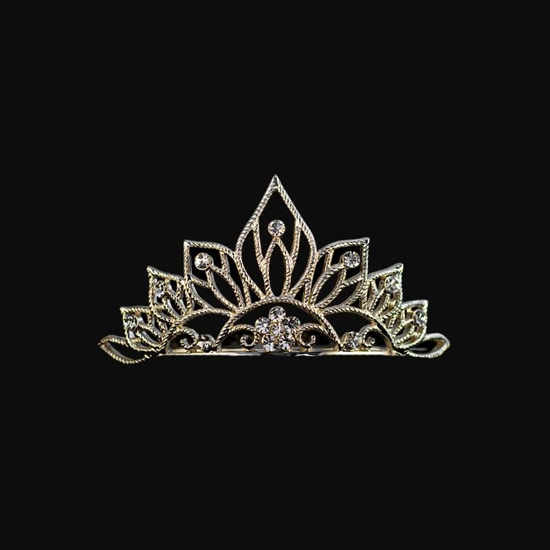 Diamond Scroll Tiara Ring in 10K White Gold 1/10
