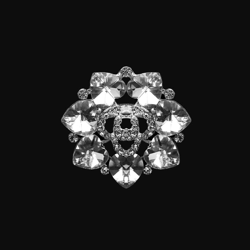 Brooch gold Diamond Flower