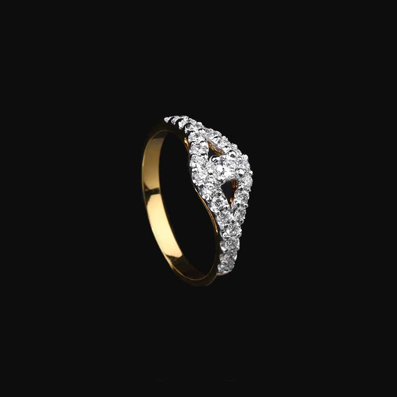 0.50 Carat Solitaire Diamond Engagement Ring 18kt Yellow Gold