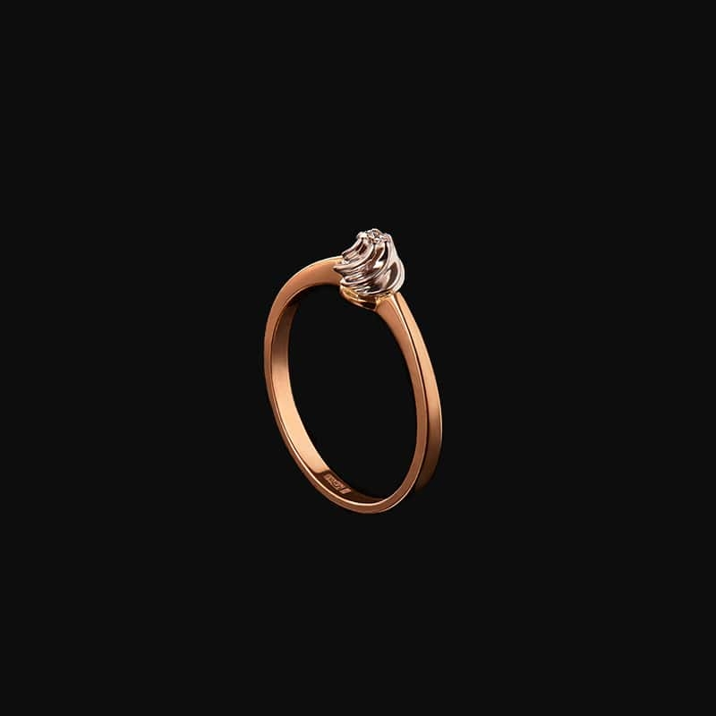 Diamond Engagement Ring - 14K Rose Gold