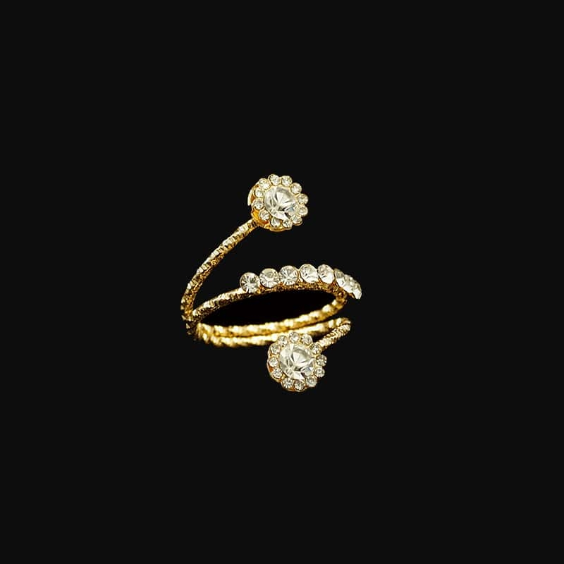 Two-Stone Ring 1/2 ct tw Diamonds 14K Yellow Gold