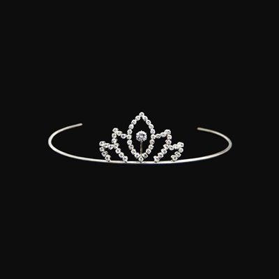 Diamond Crown in Sterling Silver 1/10