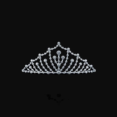 Diamond Tiara in 14K White Gold 1-1/4