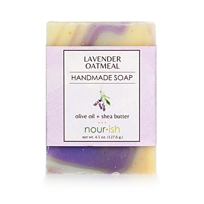 Lavender & Oat Olive Oil and Shea Butter Soap