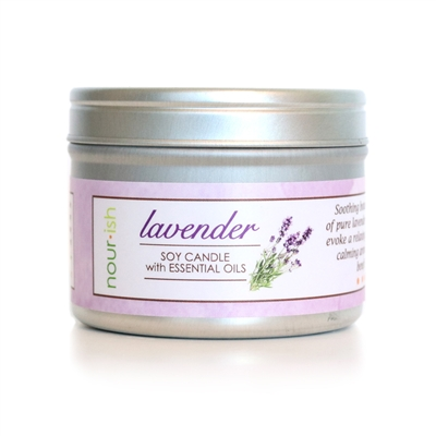 Lavender Travel Tin Soy Candle