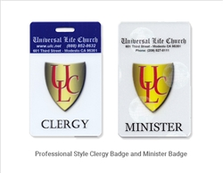 Universal Life Church clip-on badge