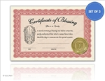 Compact Item Blessing Certificate Set