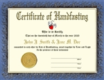 Custom personalized handfastingcertificate