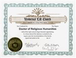 HQ Doctor of Religious Humanities