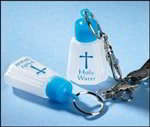 Holy Water Bottle Keychain | Holy Water Bottle on Clipable Keychain