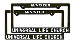 License Plate Frame- Set of Two