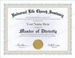 Universal Life Church Master of Divinity Degree