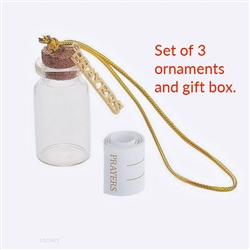 Mini Ornament Bottles - Prayers Set of 3