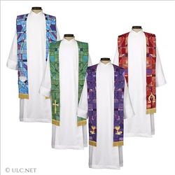 Stained Glass Stoles w/Gold Trim