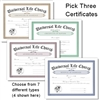 Pick Three Certificates