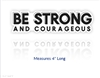 Be Strong Vinyl Decal (Clearance)
