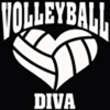 Custom Volleyball Diva Car Window Decal