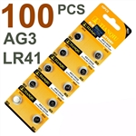 100 PCS LR41/AG3/LR736 Batteries