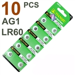 10 PCS LR60 AG1 364 LR621 1.5V Alkaline Battery
