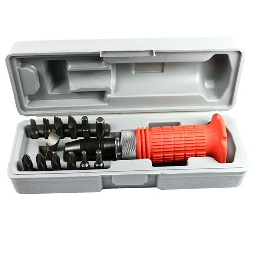 14 pcs heavy duty impact driver bits screwdriver set tool socket kit with case. Black Bedroom Furniture Sets. Home Design Ideas