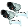 2 pcs dummy security cameras