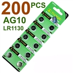 200 PCS LR1130/AG10/389 1.5V Batteries