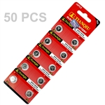 50 PCS LR48/AG5/393/LR754 batteries
