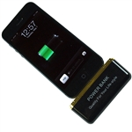 Black Portable Charger External 2600mAh Power Bank battery for iPhone 5 iPadMini