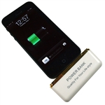 White Portable Charger External 2600mAh Power Bank battery for iPhone 5 iPadMini
