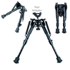 Foldable & Adjustable Bipod with Rail Adapter
