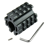 Low Profile Gas Block Clamp on w/ Picatinny Quad Rail & Roll Pin for .750 Barrel