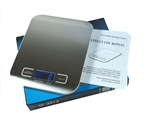 11lb x 0.05 oz Thin Stainless Steel Digital Kitchen Scale