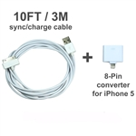 Sync/charging cord for iPhone 4/4S/5