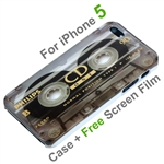 iPhone 5 Cassette Tape Design Hard Cover