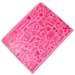Cute Pink PU Leather Case Cover Stand & Screen Protector iPad 2 3 4
